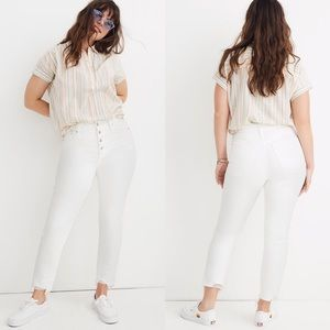 Madewell Perfect Vintage Crop Button Fly White